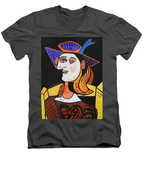 Hair Net  Picasso Men's V-Neck T-Shirt