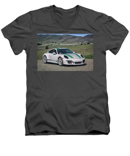 #porsche #911r #print Men's V-Neck T-Shirt