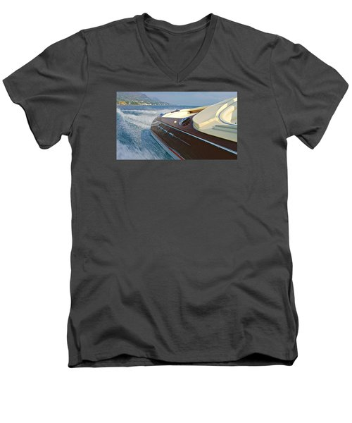 Riva Wake Men's V-Neck T-Shirt