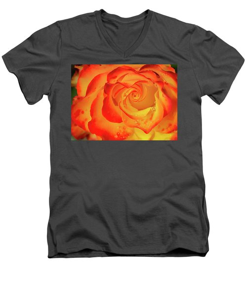 Rose Beauty Men's V-Neck T-Shirt