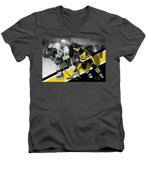 Sidney Crosby Men's V-Neck T-Shirt by Don Olea