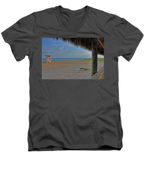 Men's V-Neck T-Shirt featuring the photograph 7- Southern Beach by Joseph Keane