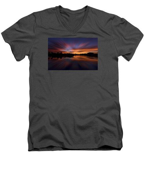 Sunrise At Naples, Florida Men's V-Neck T-Shirt by Peter Lakomy