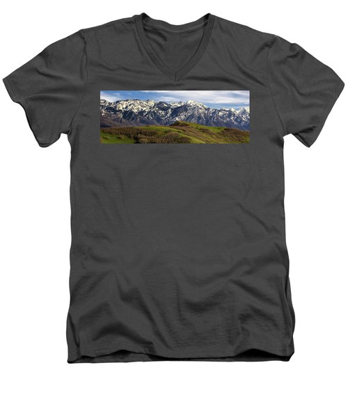 Wasatch Mountains Men's V-Neck T-Shirt