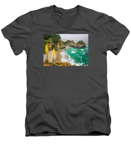 #7842 - Big Sur, California Men's V-Neck T-Shirt