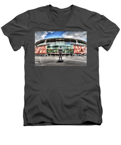 Arsenal Fc Emirates Stadium London Men's V-Neck T-Shirt