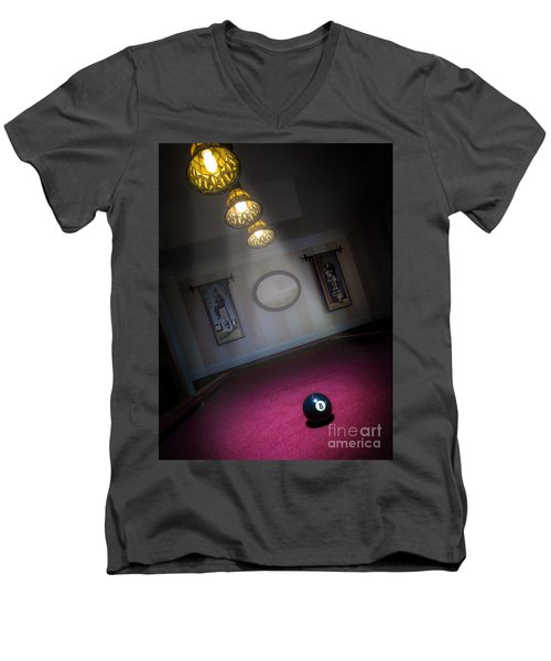 Men's V-Neck T-Shirt featuring the photograph 8 Ball by Brian Jones