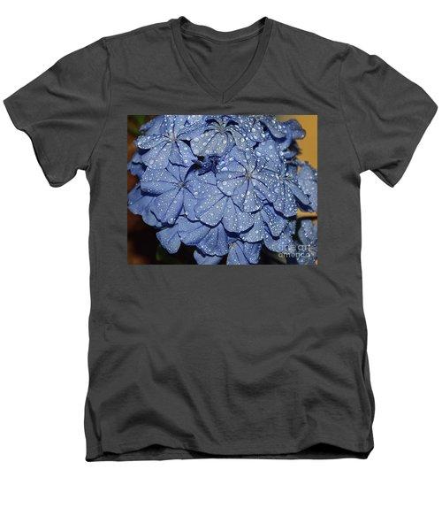 Blue Plumbago Men's V-Neck T-Shirt