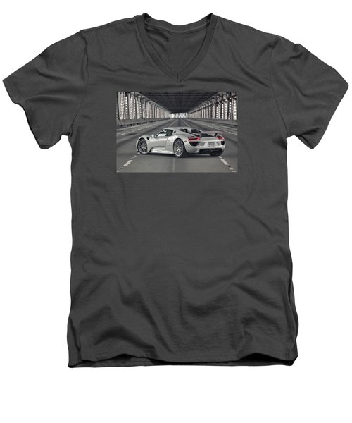 Porsche 918 Spyder  Men's V-Neck T-Shirt