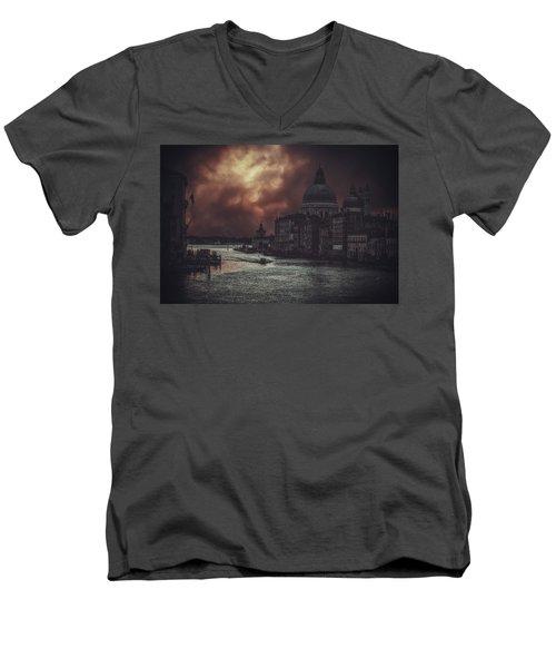 Venice Men's V-Neck T-Shirt by Traven Milovich