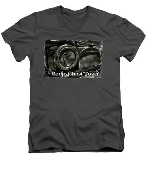 80 Year Old Truck At Bodie Ghost Town Men's V-Neck T-Shirt