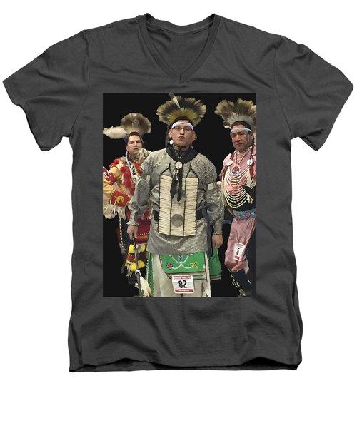 82 Men's V-Neck T-Shirt by Audrey Robillard