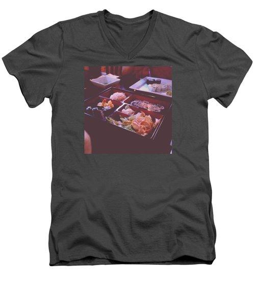 Sushi Men's V-Neck T-Shirt by Kamiyah Franks
