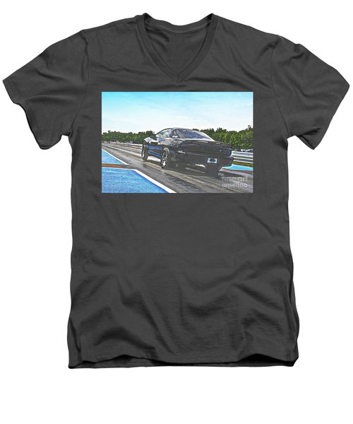 8706 06-15-2015 Esta Safety Park Men's V-Neck T-Shirt