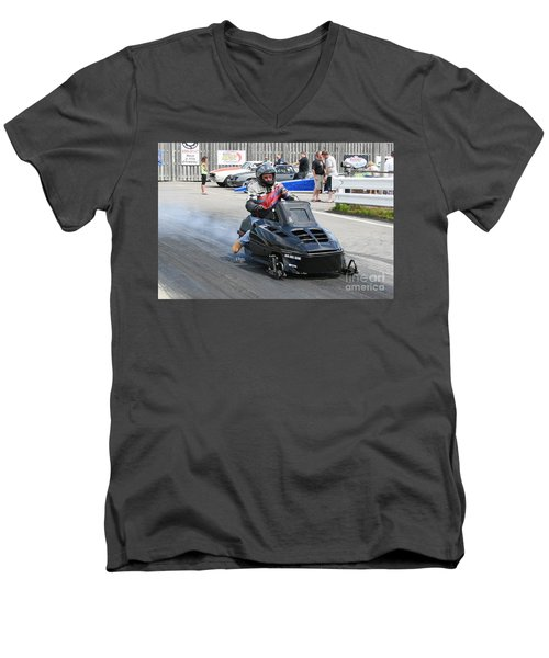 8743 06-15-2015 Esta Safety Park Men's V-Neck T-Shirt