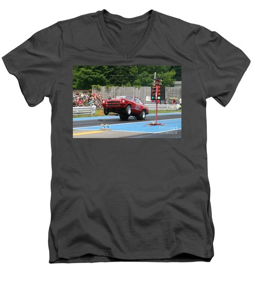 8853 06-15-2015 Esta Safety Park Men's V-Neck T-Shirt