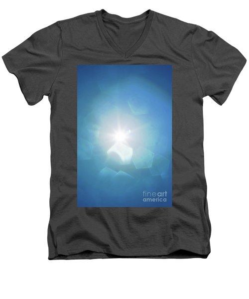 Men's V-Neck T-Shirt featuring the photograph Abstract Sunlight by Atiketta Sangasaeng