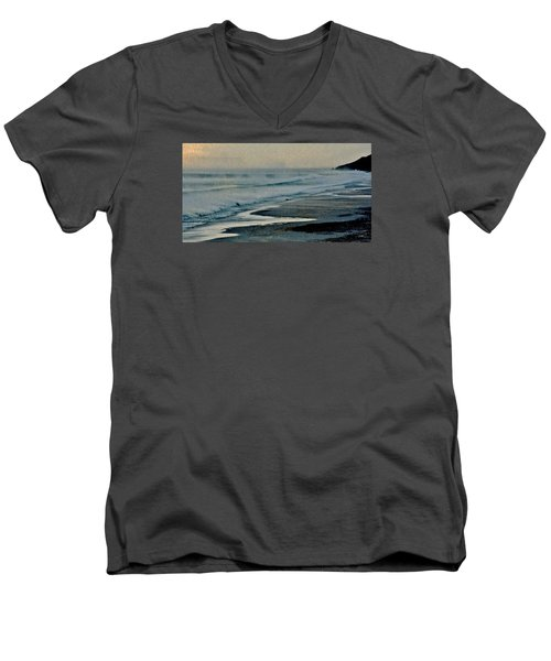 Stormy Morning At The Sea Men's V-Neck T-Shirt by Werner Lehmann