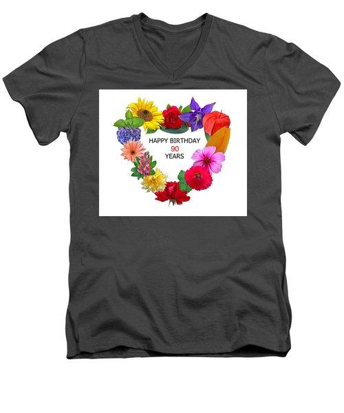 90th Birthday Men's V-Neck T-Shirt