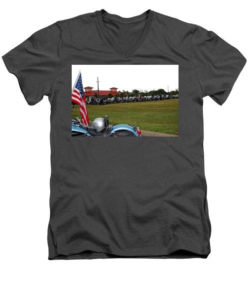 911 Ride Line Up Men's V-Neck T-Shirt