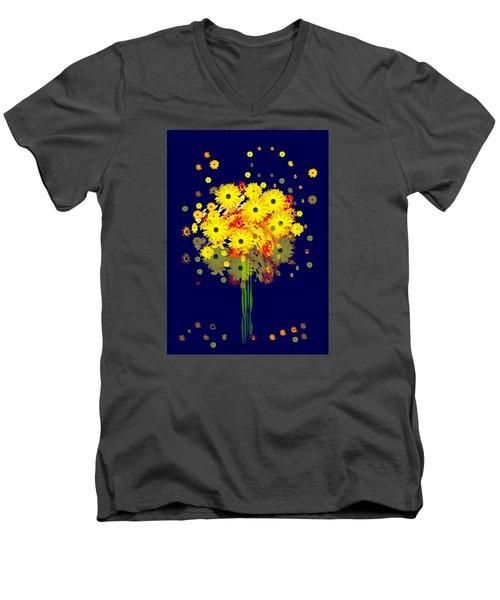 952 - Summer Flowers  Yellow ... Men's V-Neck T-Shirt