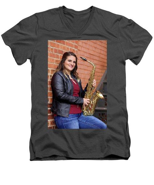 9g5a9450_e Men's V-Neck T-Shirt by Sylvia Thornton