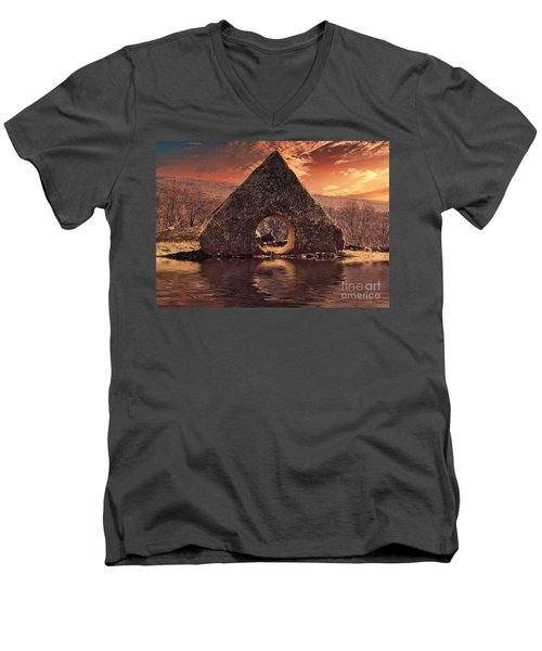 A A Men's V-Neck T-Shirt