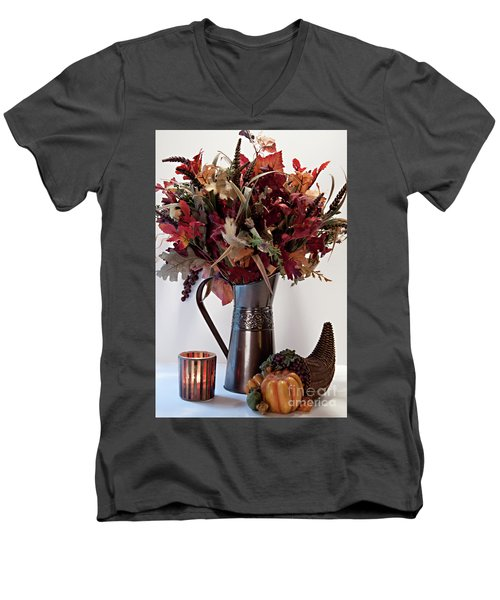 A Autumn Day Men's V-Neck T-Shirt by Sherry Hallemeier