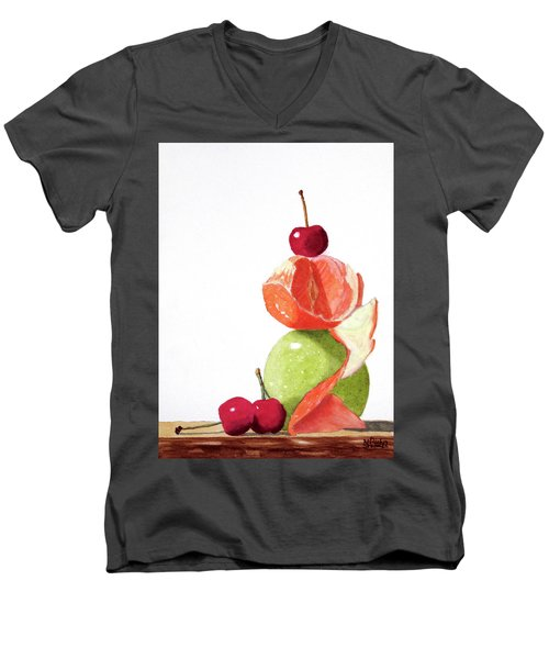 A Balanced Meal Men's V-Neck T-Shirt