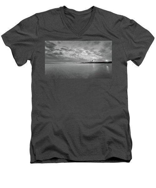 A Beach And A Bunch Of Boats Men's V-Neck T-Shirt