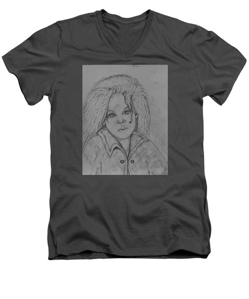 Wistful, The Drawing. Men's V-Neck T-Shirt