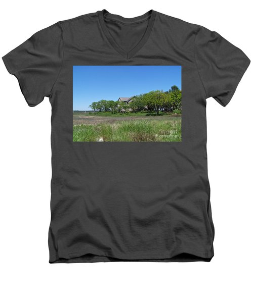 A Beautiful Day Men's V-Neck T-Shirt by Carol  Bradley