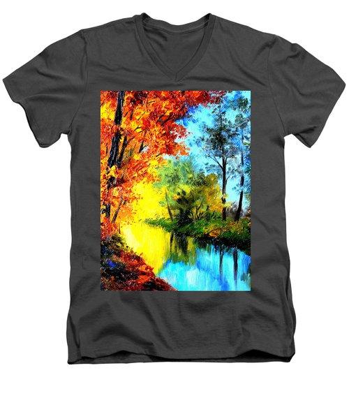 A Beautiful Day Men's V-Neck T-Shirt