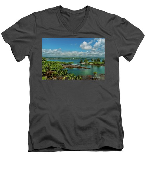 A Beautiful Day Over Hilo Bay Men's V-Neck T-Shirt