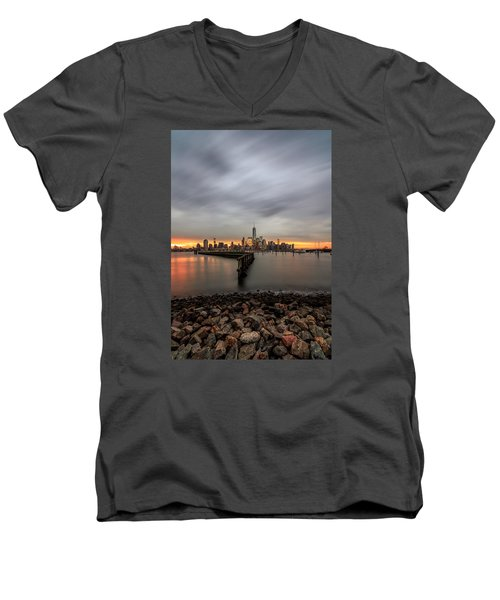 A Beautiful Morning  Men's V-Neck T-Shirt by Anthony Fields