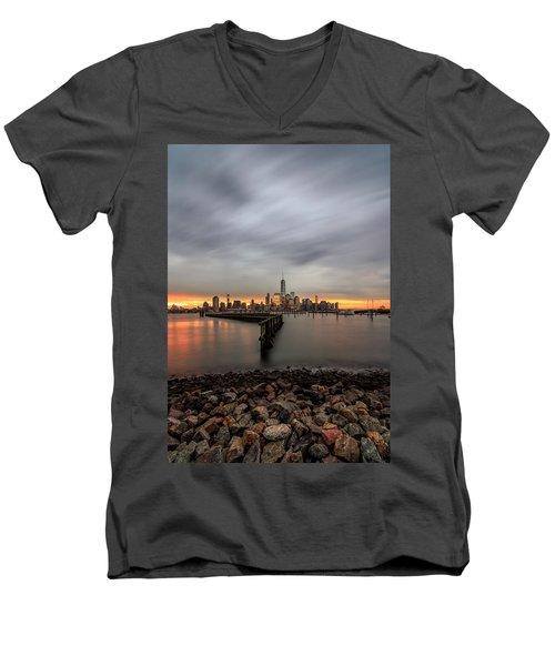 A Beautiful Morning  Men's V-Neck T-Shirt