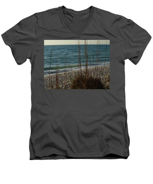 Men's V-Neck T-Shirt featuring the photograph A Beautiful Planet by Robert Margetts