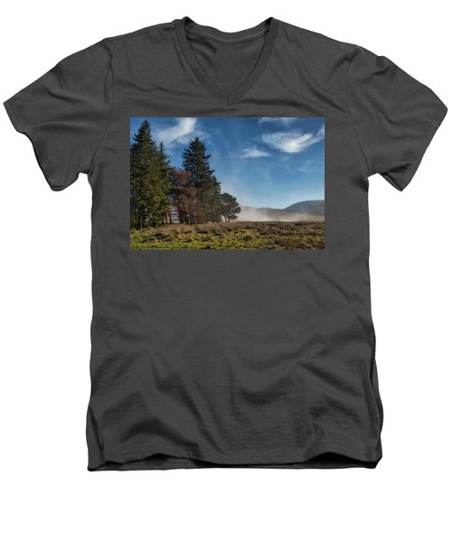 Men's V-Neck T-Shirt featuring the photograph A Beautiful Scottish Morning by Jeremy Lavender Photography