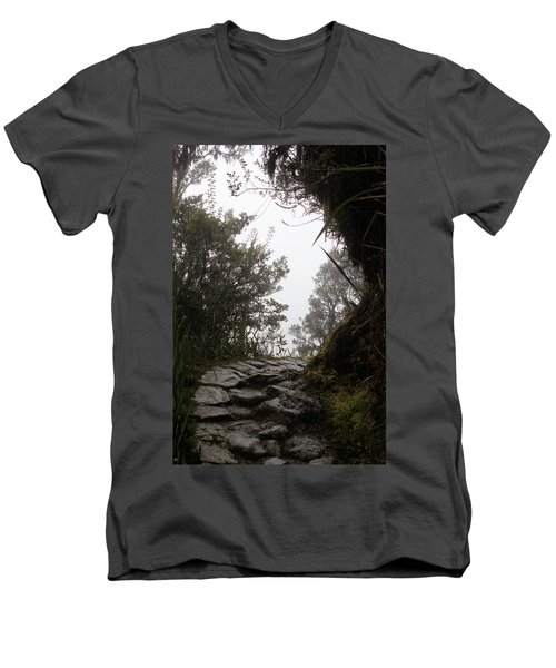 A Bend In The Path Men's V-Neck T-Shirt
