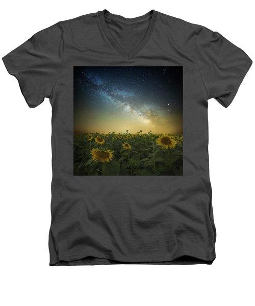 A Billion Suns Men's V-Neck T-Shirt by Aaron J Groen