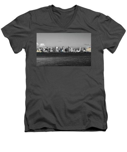 A Bit Of Color Men's V-Neck T-Shirt by Joseph S Giacalone