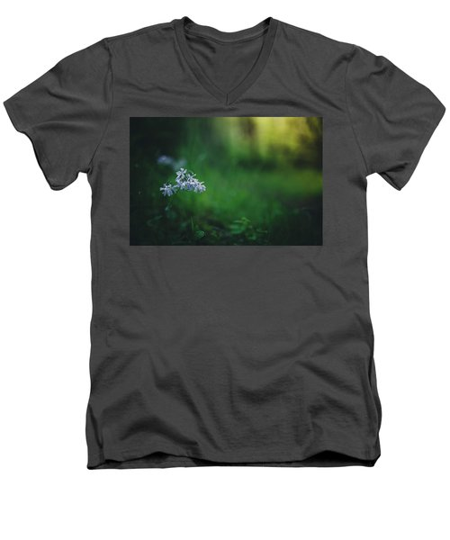 Men's V-Neck T-Shirt featuring the photograph A Bit Of Forest Magic by Shane Holsclaw