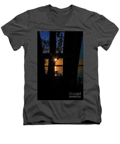 A Blissful Evening Men's V-Neck T-Shirt by Deborah Klubertanz