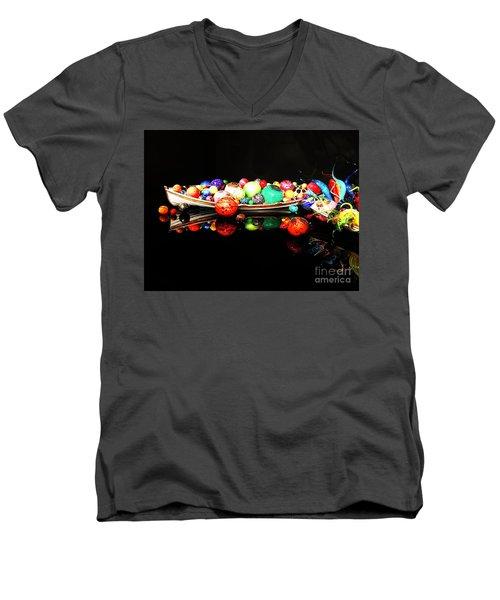 A Boatload Of Chihuli Men's V-Neck T-Shirt