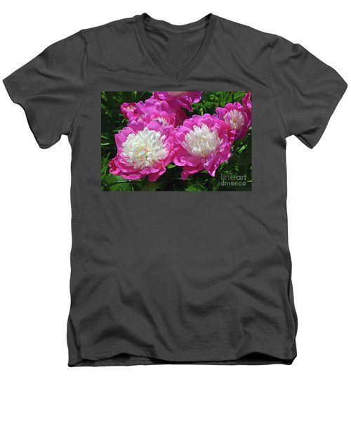 A Bouquet Of Peonies Men's V-Neck T-Shirt