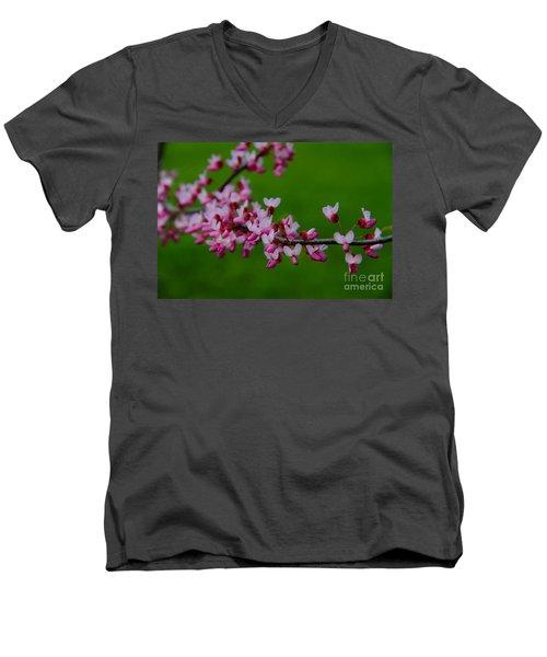 A Branch Of Spring Men's V-Neck T-Shirt