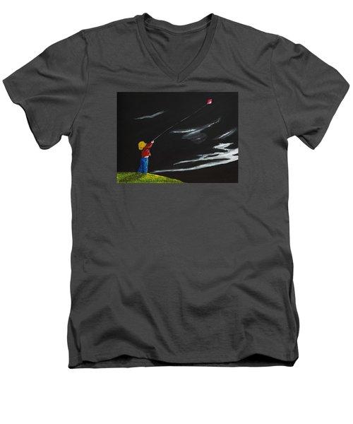 A Braw Night For Flight Men's V-Neck T-Shirt by Scott Wilmot