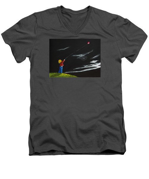A Braw Night For Flight Men's V-Neck T-Shirt