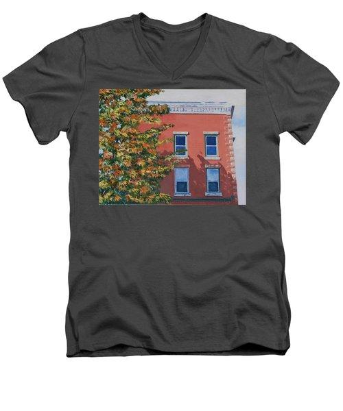 A Brick In Time Men's V-Neck T-Shirt