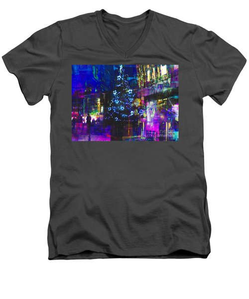 Men's V-Neck T-Shirt featuring the photograph A Bright And Colourful Christmas by LemonArt Photography